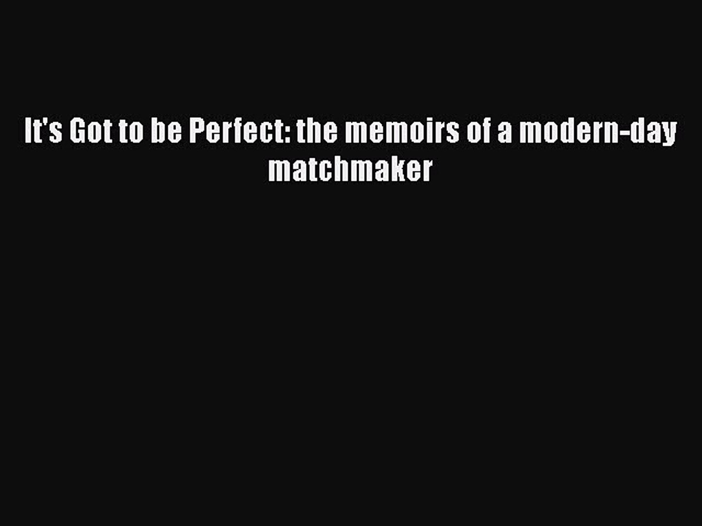 Moden matchmaking