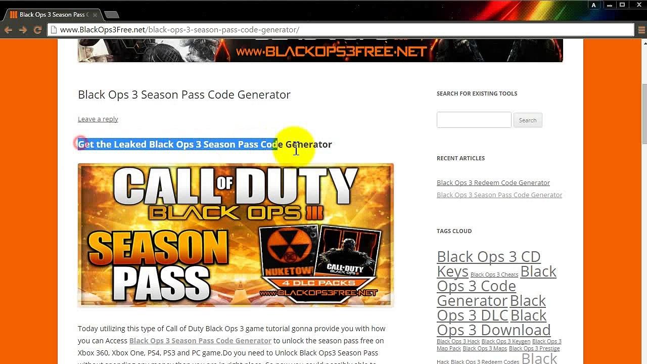 cod black ops 3 redeem code free