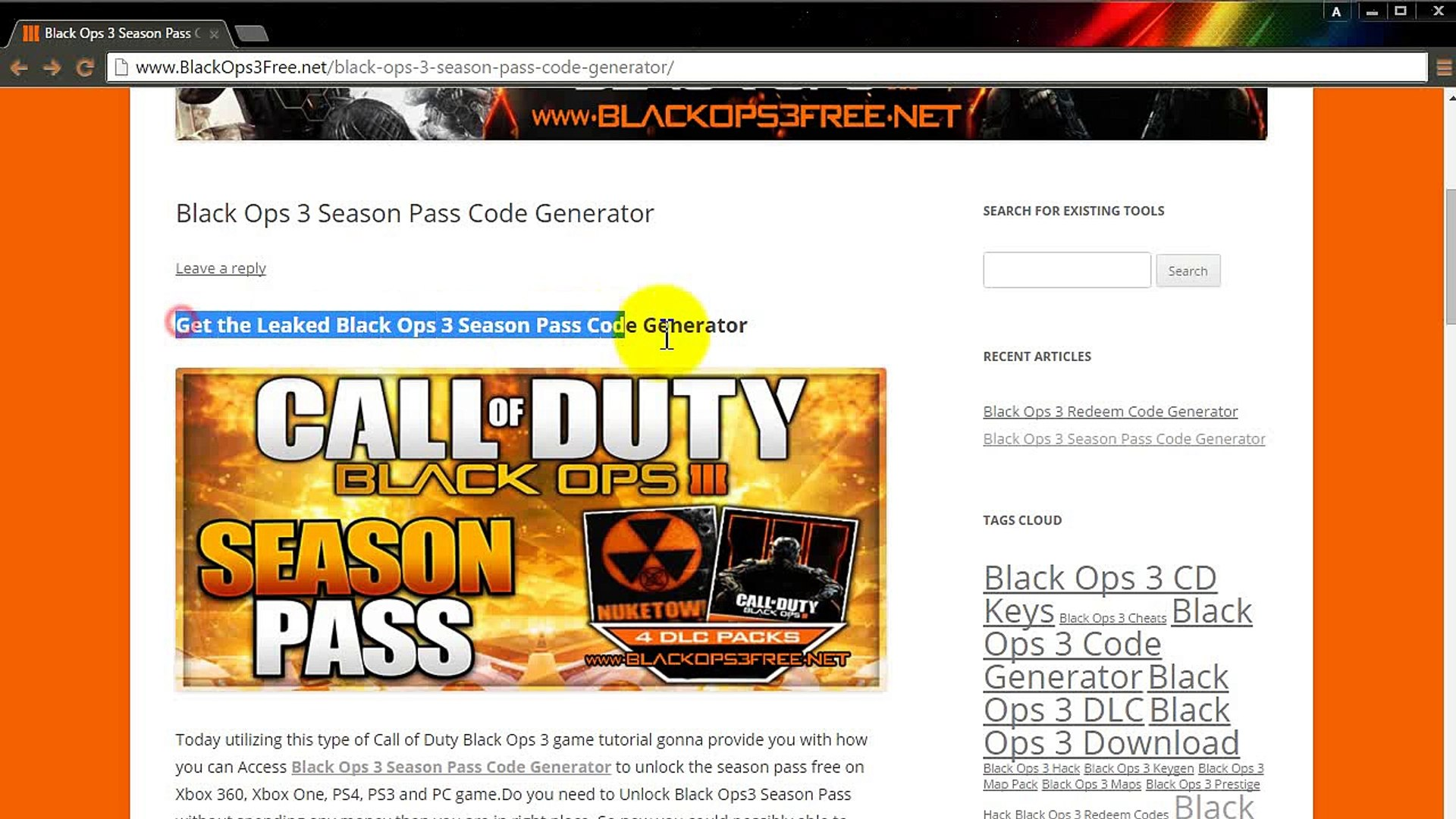 How to get Black Ops 3 Season Pass DLC Code Generator + Prestige Maximum  Level Cheats [2016]