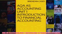 Download PDF  AQA AS Accounting Unit 1 Introduction to Financial Accounting FULL FREE