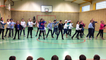 Flash mob des CM2 à Coutances