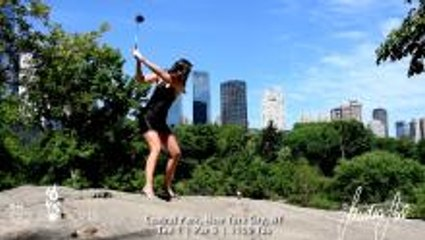 Streetgolf in New York City feat. Sandra Gal