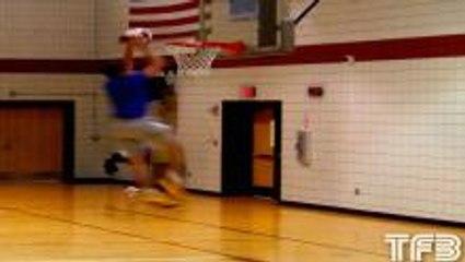 Tyler Inman Mid-Air Ball Kick Dunk