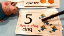 peppa pig apprendre l'anglais the numbers | learn French les nombres