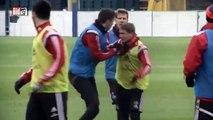 Tuča na treningu HSV-a