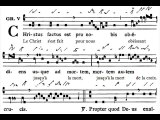 Graduale gregorian 'Christus factus est', Dominica in Palmis (Dimanche des Rameaux)