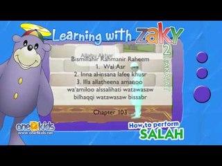 Muslim Prayer - How to perform 2 Raka'at (2 Units) of prayer   Learning with Zaky
