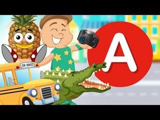 Alfabet dla dzieci - Literka A - Zabawa i nauka w jednym