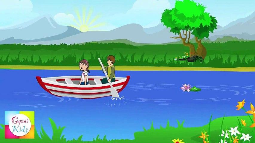 Row Row Row Your Boat - Popular Nursery Rhymes  Cartoon Animation For Children