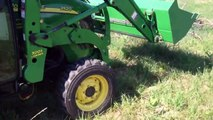 John Deere 3520 with rear finish mower - video dailymotion