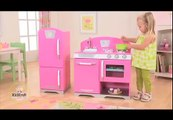 Girls Pink Cooking Pretend Play Kitchen Toy, KidKraft Retro Kitchens Toys
