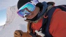 2 minutes de snowboard extrême dans les Alpes