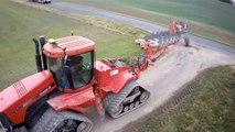 CASE QUATRAC STX 500 et charrue GREGOIRE BESSON 13 fers !! au labour d hiver dans la marne
