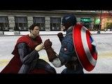 Captain America vs Superman - EPIC BATTLE - Grand Theft Auto