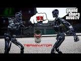 T-600 VS T-800 | TERMINATOR FIGHT | GTA IV