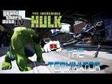 T-800 (Terminator 2) VS HULK - GREAT BATTLE - GTA IV