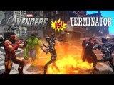 The Avengers vs Terminator Army - EPIC BATTLE - Grand Theft Auto