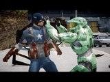 Halo Master Chief vs Captain America - Bloody Fight - Grand Theft Auto