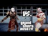 KRATOS VS KRATOS (GOD ARMOR)   GOD OF WAR FIGHT   GTA IV