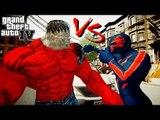 Spiderman 2099 vs Red Hulk - Great Battle - Grand Theft Auto IV