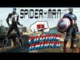 BLACK SPIDER-MAN VS CAPTAIN AMERICA - EPIC SUPERHEROES BATTLE - GTA IV