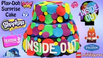 HUGE Inside Out Play Doh Cake - Surprise Toys - Inside Out Movie Hot Topic Exclusive Mystery Minis