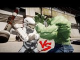 SPARTAN WHITE (HALO REACH) VS HULK  -  EPIC BATTLE - Grand Theft Auto IV