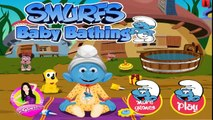 Watch Smurfs Cartoons to Play Full Episodes kids games Baby games # bathing care and dress up #