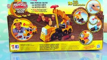 Play Doh Diggin Rigs Buster The Power Crane Playset Kids Toy Review [Tonka Chuck] [Hasbro]