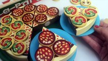 PIZZA PARTY Melissa & Doug Wooden Pizza Party Make Pizza, Slice and Serve Toy Cutting Food Toy Food