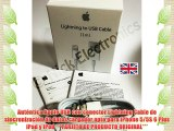 Auténtica Apple USB con conector Lightning Cable de sincronización de datos cargador apto para
