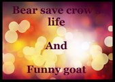 Bear saves crow and funny goat,funny videos,funny animals ,lol, funny clips, comedy movies, funny pictures, funny images, funny pics,funny