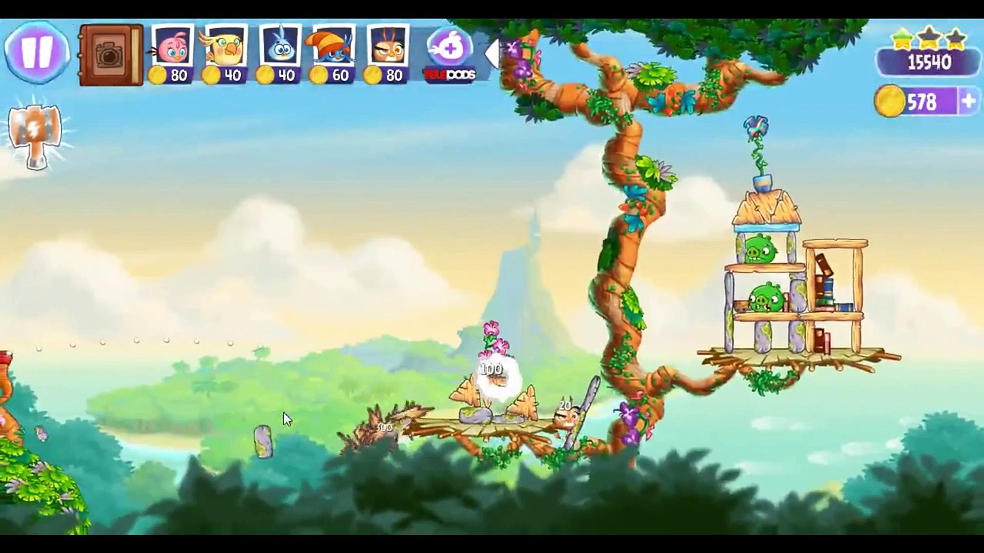Angry Birds Stella Level 48 ★★★ Walkthrough Episode 1