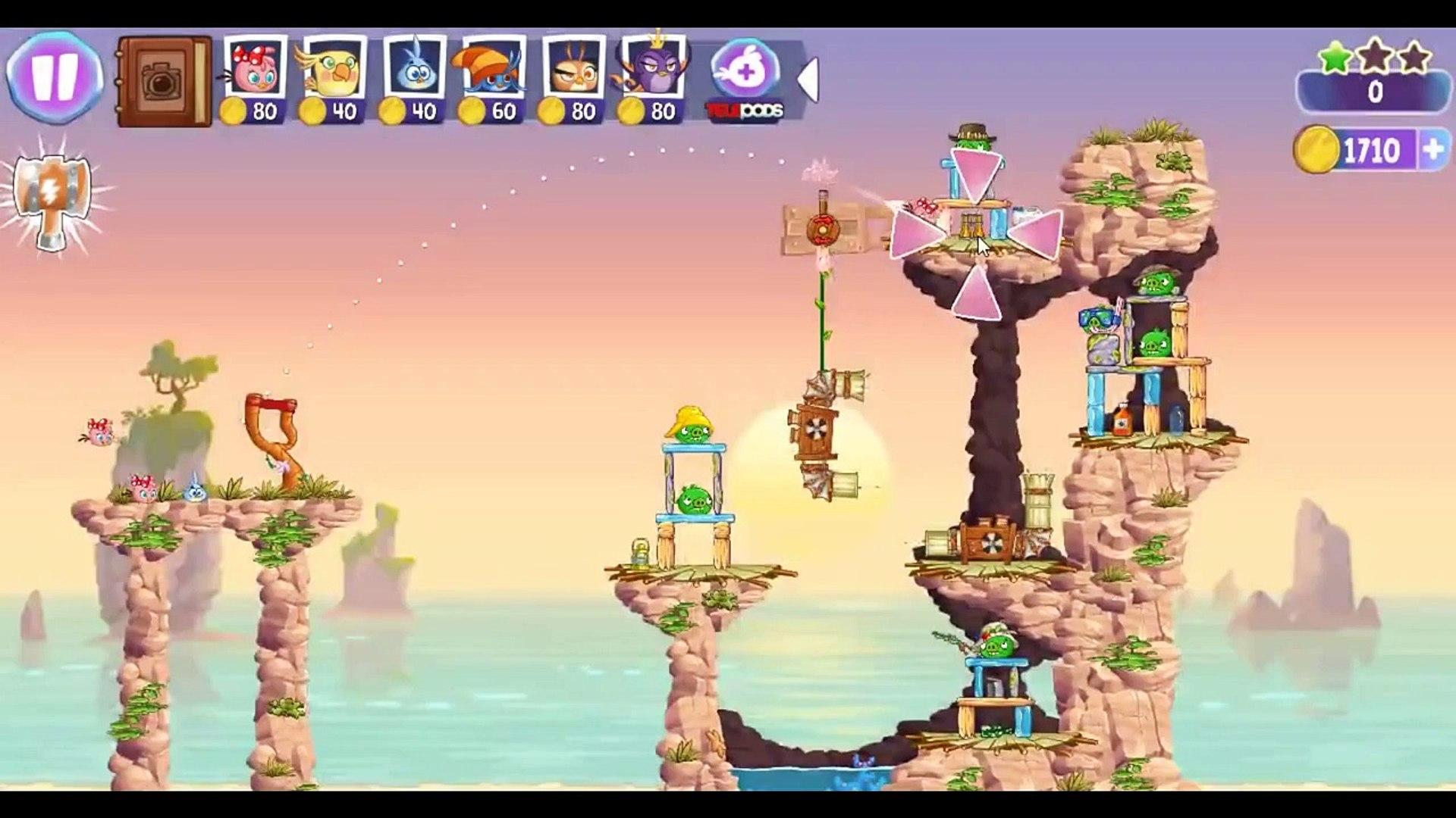 Angry Birds Stella Level 58 Episode 2 Walkthrough ★★★ Beach Day