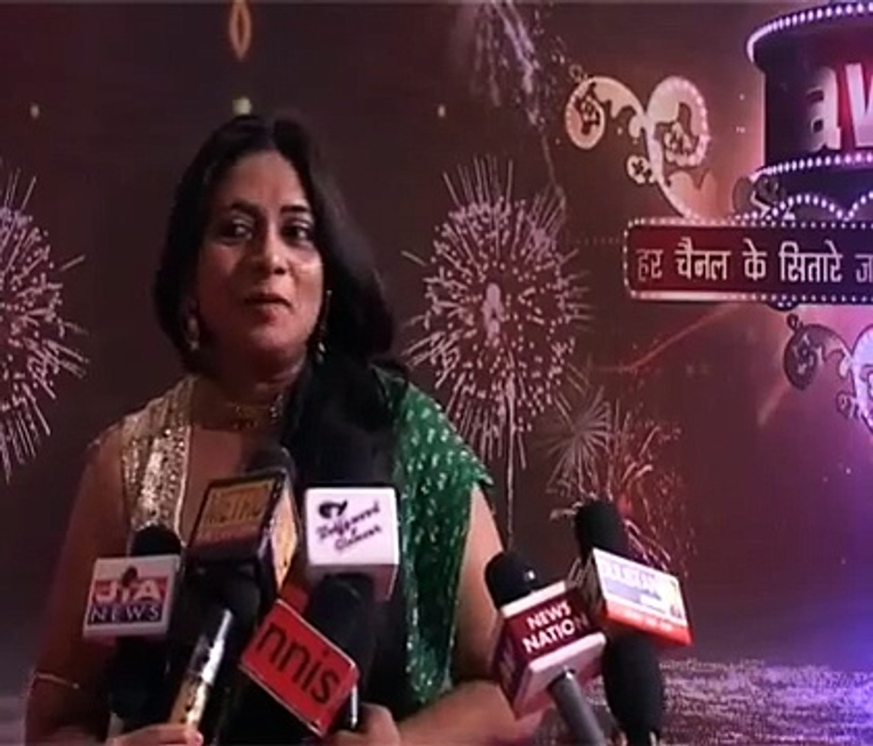 Star Plus Tv Serial Iss Pyaar Ko Kya Naam Doon  s Manorma Mami Utkarsha Naik At ITA Awards