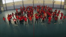 Flashmob UNSS Euro 2016 - AS Clg Voltaire Sarcelles (95)
