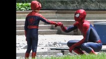 Spider-Man and Spider-Boy having fun on set of The Amazing Spider-Man 2 (PHOTOS)