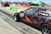 Honda Civic 2.0 Turbo Vs. Ford Fiesta RS Turbo Drag Race 2