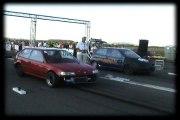 Honda Civic 1.5 Turbo Vs. Fiat Punto GT Turbo Drag Race