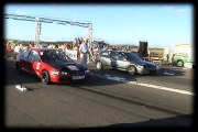 Honda Civic VTI Vs. Honda Civic B16 Drag Race