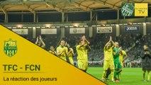 TFC-FCN : la réaction des joueurs