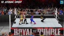 Top 20 Royal Rumble Finishers | WWE 2K15 | WWE 2K16 Countdown