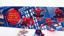 Surprise Eggs Spiderman unboxing Marvel collection. Kinder surprise eggs. Huevos Kinder so