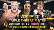 WWE Brock Lesnar vs Roman Reigns vs Dean Ambrose - Fastlane 2016 Highlights