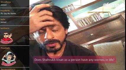 What worries superstar Shah Rukh Khan   #SRKLiveOnFame
