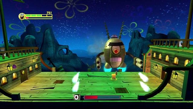 SpongeBob SquarePants: Planktons Robotic Revenge [HD] - All Bosses