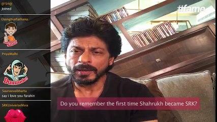 How Shah Rukh Khan got the name SRK | #SRKLiveOnFame