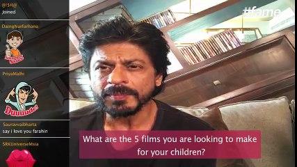 Films I want to make for my children | #SRKLiveOnFame