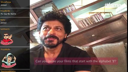 Can SRK name his films that begin with the alphabet 'B'?