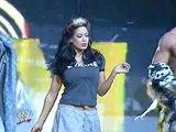 Women's Championship: Trish Stratus © (w/ Mickie James) vs. Melina (w/ MNM)
